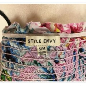Style Envy Tops - Sold♥️Style Envy Strapless Tube Top Juniors S/M
